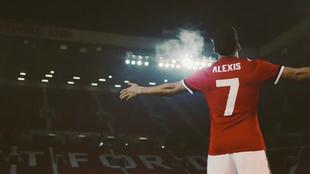 Alexis, en el vídeo promocional del United