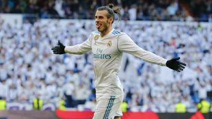 Bale celebra un gol ante el Deportivo