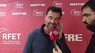 Sergi Bruguera durante la entrevista con Radio MARCA