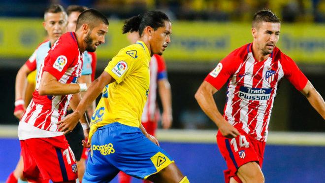 Lemos, durante un Las Palmas-Atlético.