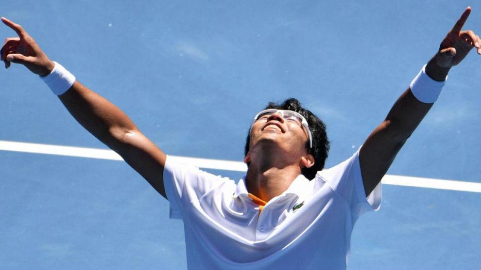 Chung celebra la victoria