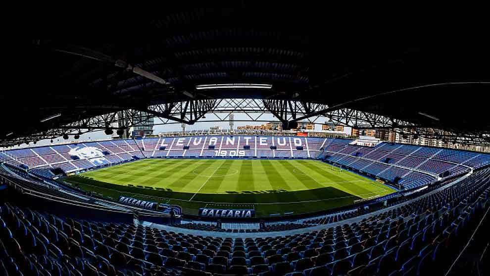Panorámica del Estadio Ciutat de Valencia, sede del Levante UD