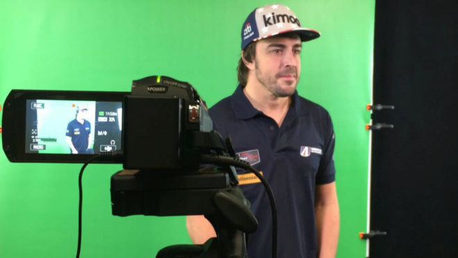 Fernando Alonso, en la gira de medios.