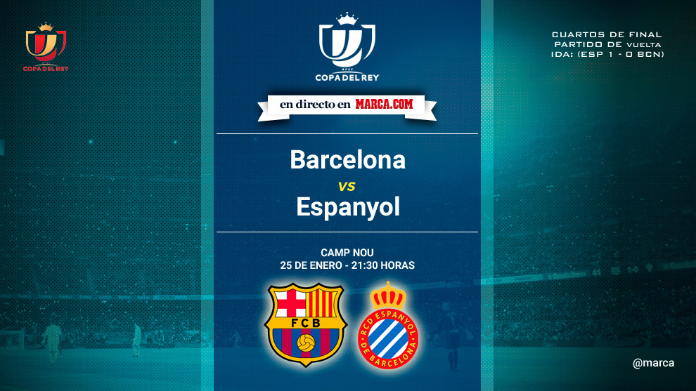 Copa del Rey: Barcelona vs Espanyol: Horario y dónde ver en tv hoy ...