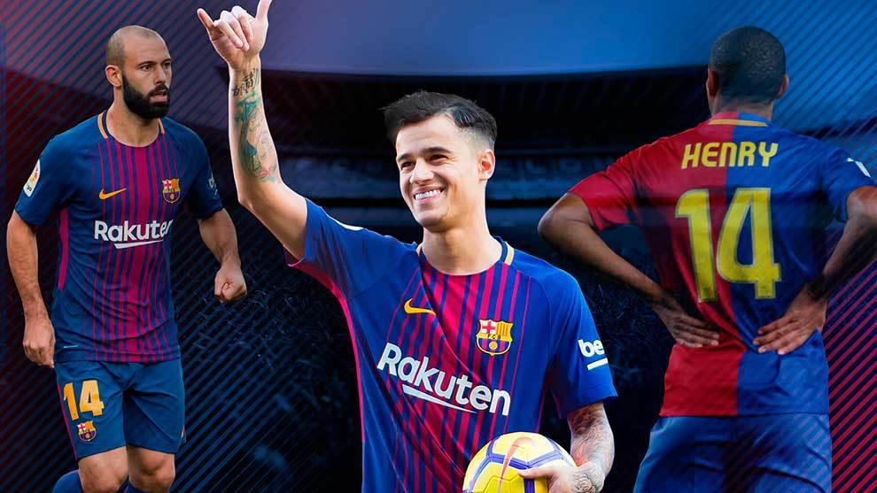 FC Barcelona  Coutinho llevará el 14 de Cruyff a4602d4f63202