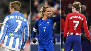 Griezmann, con la Real, Francia y el Atlético