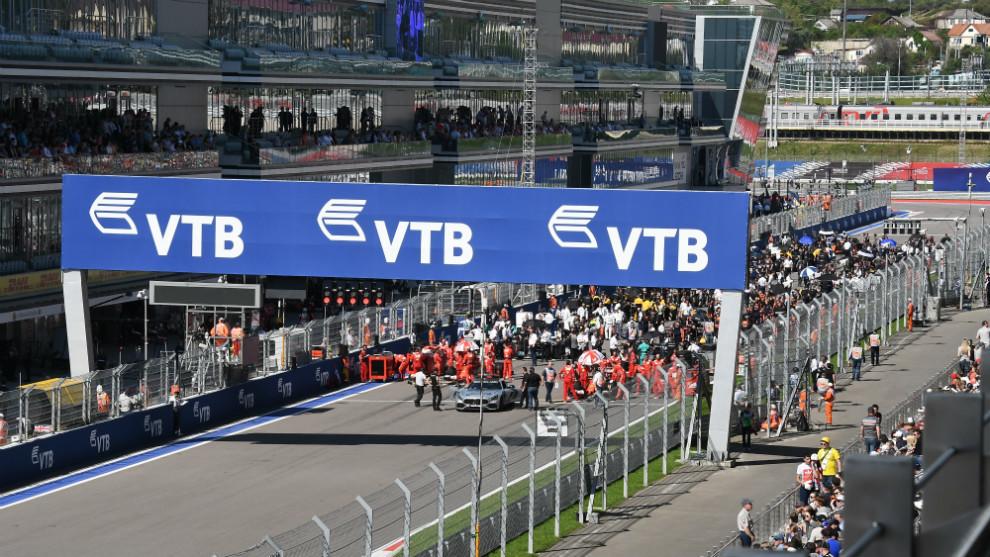 Parrilla F1.