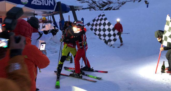Luis Alberto Hernando y Javier Olave al finalizar la prueba.