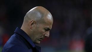 Zidane, en un partido del Madrid