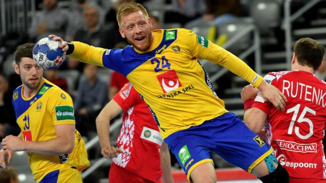 El sueco Gottfridsson, en un partido de la primera fase.