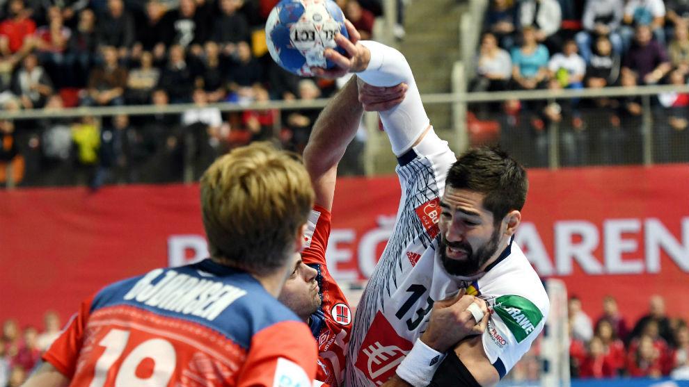 Nikola Karabatic, en el partido que Francia disputó con Noruega en la...