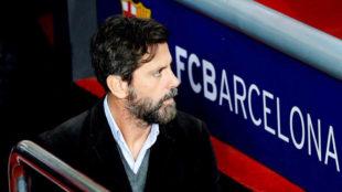 Quique Sánchez Flores en el Camp Nou