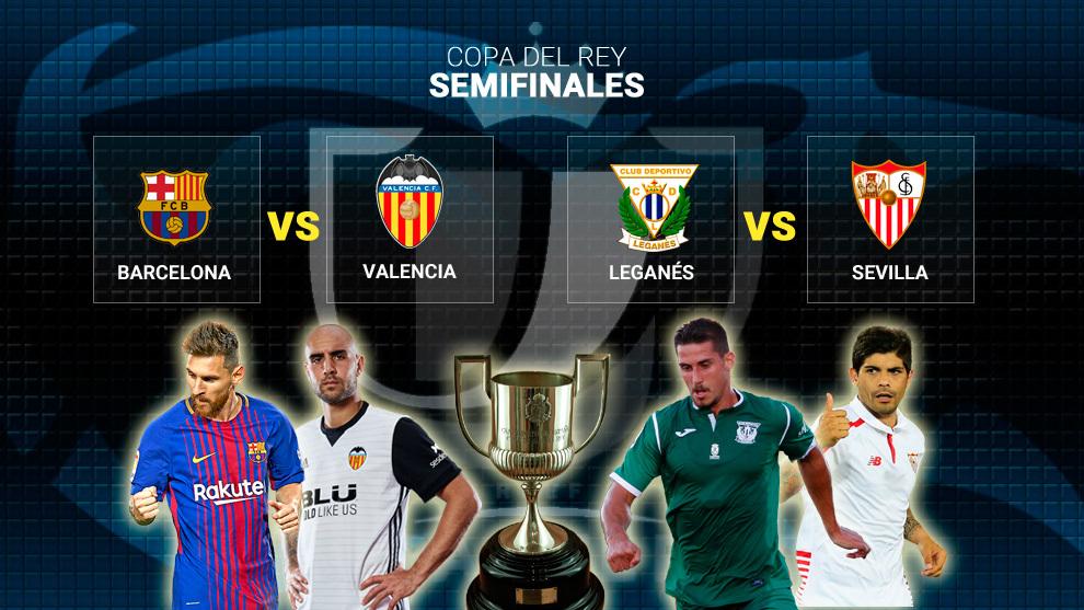 Copa del Rey: Sorteo Copa del Rey: Emparejamientos de semifinales ...
