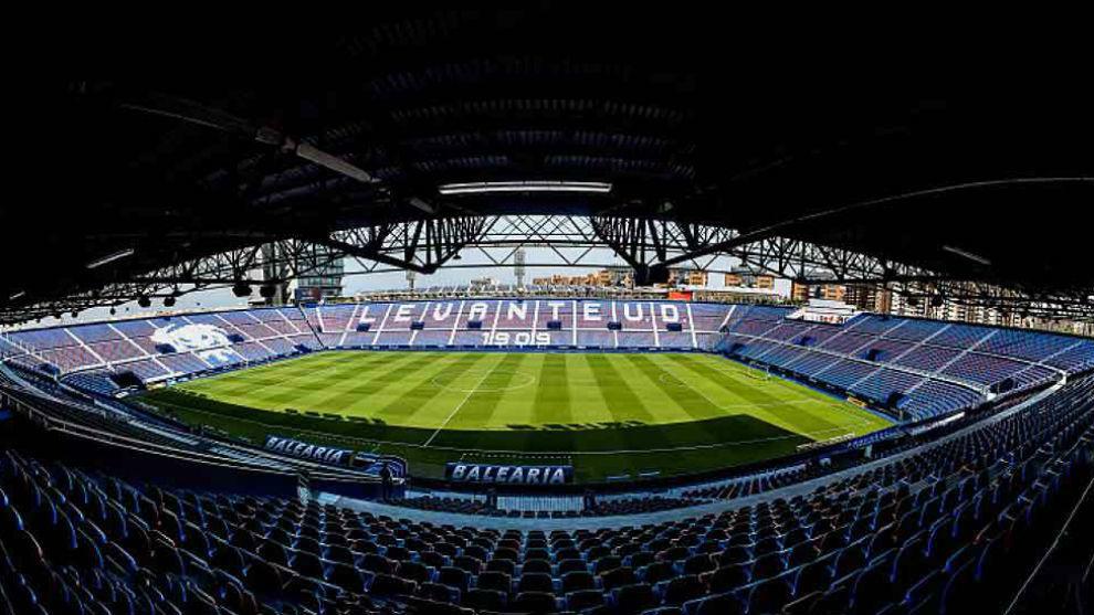 Panorámica del estadio del Levante
