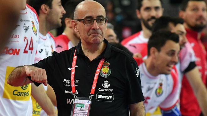 El técnico Jordi Ribera celebra la clasificación para la final del...
