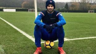 Jesé, en un entrenamiento del Stoke City