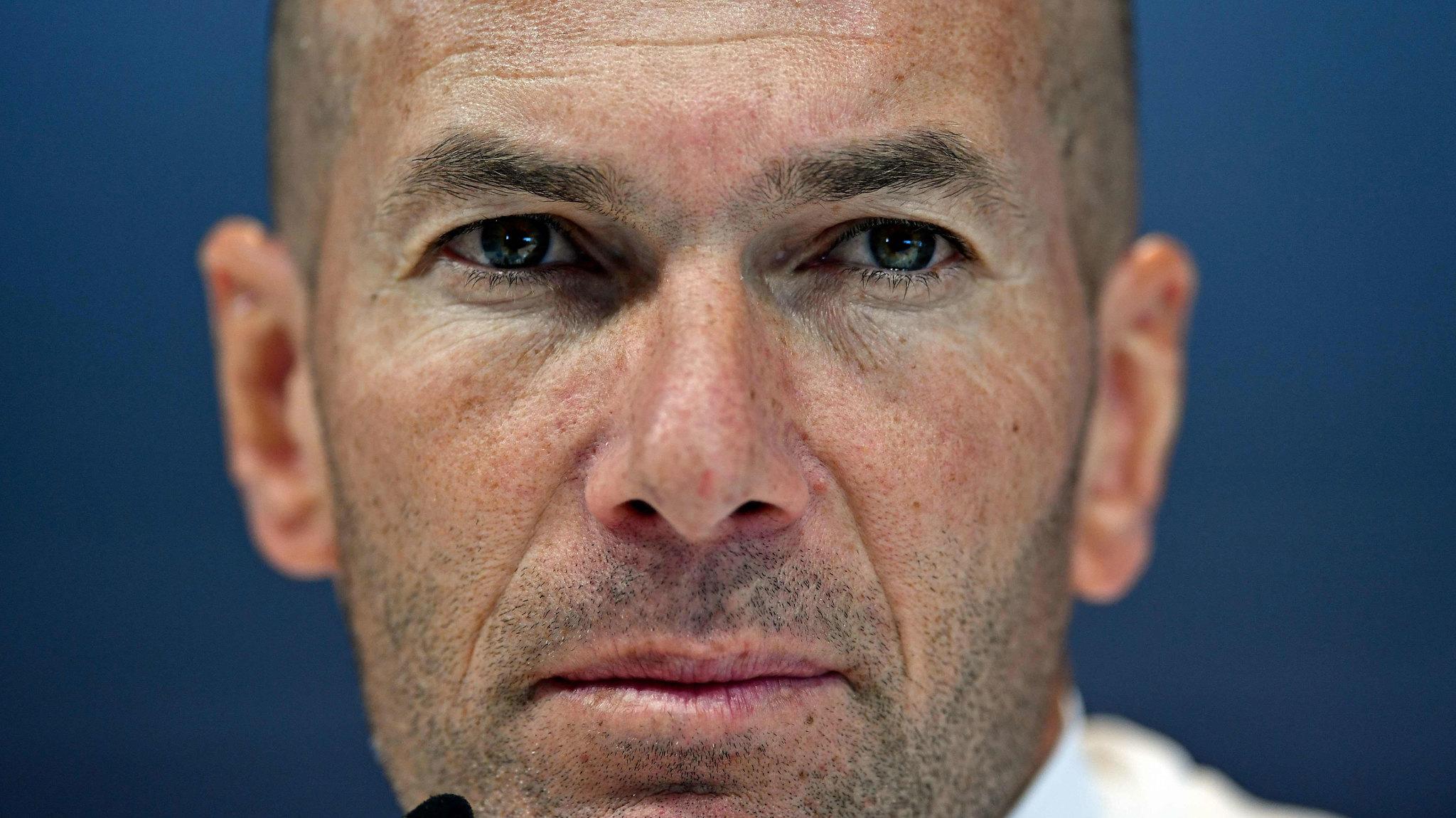 Zidedine Zidane en la rueda de prensa previa al partido contra el...