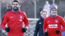 Diego Costa trains again as Atletico Madrid begin life without Augusto