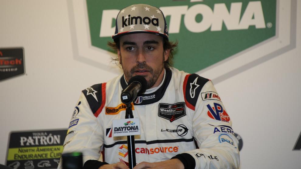 Fernando Alonso, en Daytona.