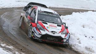 El estonio, con su nuevo Toyota Yaris WRC.