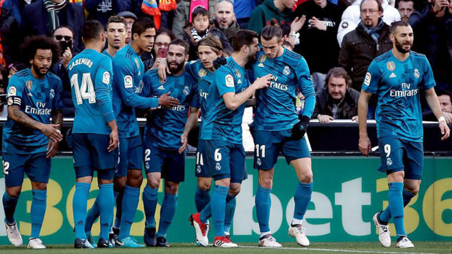 Laliga Valencia 1 4 Real Madrid Record Victory Reinforces Strength