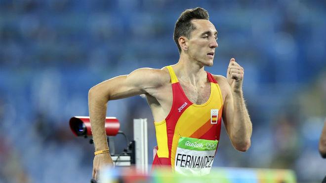 Sergio Fernández, en los Juegos de Río.
