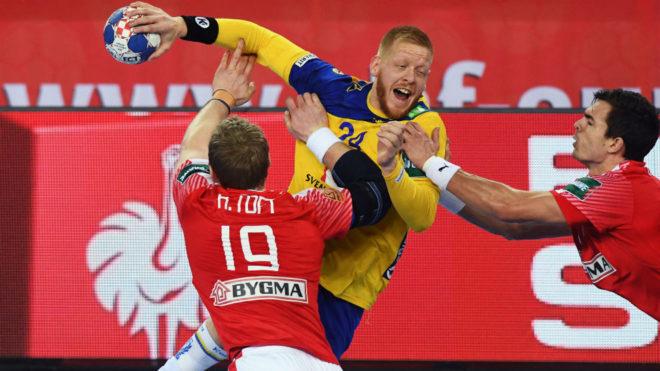 El sueco Gottfridsson, en la semifinal contra Dinamarca.