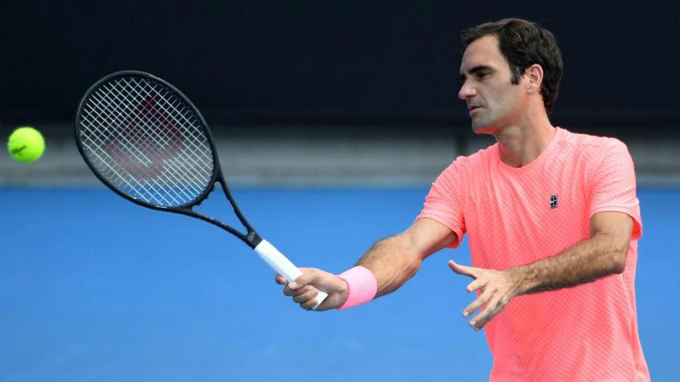 Federer, a la volea