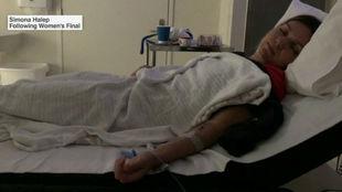 Halep, en la cama
