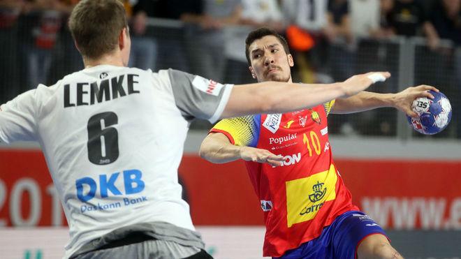 Álex Dujshebaev, en el partido contra Alemania.