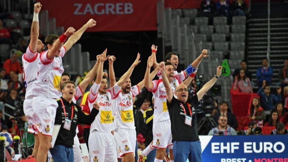 La selección nacional celebrando una victoria