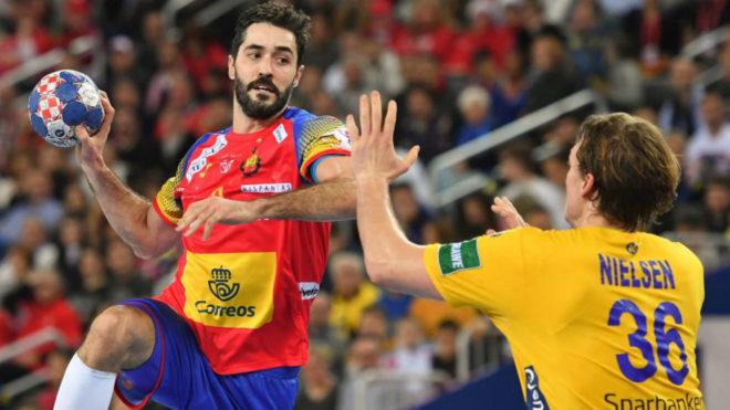 Raúl Entrerríos durante la final frente a Suecia.