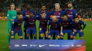 Once del Barça contra el Alavés