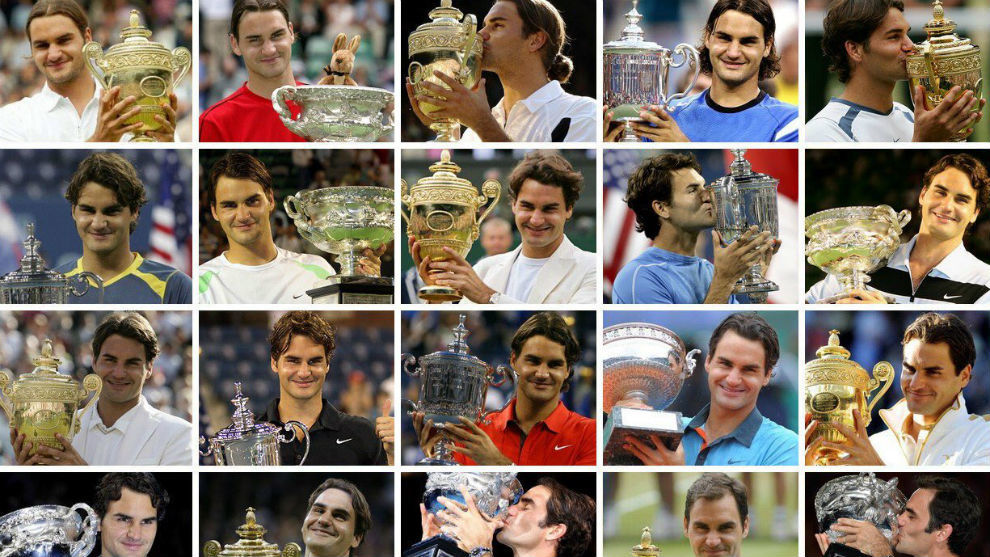 Los 20 tìtulos de 'Grand Slam' de Federer