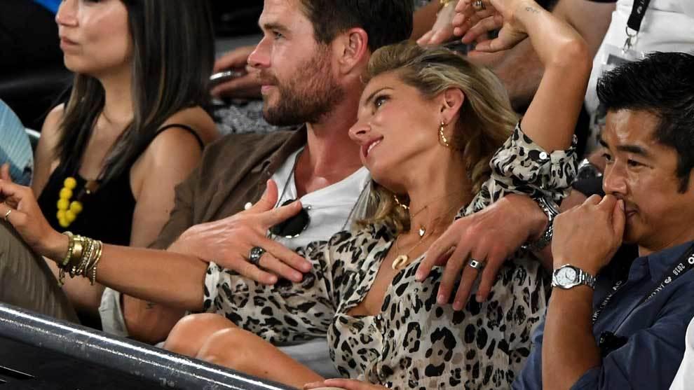 La actriz española Elsa Pataky y el actor Chris Hemsworth (el Thor...