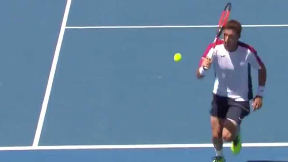 Pablo Carreño ejecutando el Top 2 del Top 10 del Open de Australia