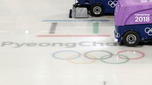 La pista de hielo, de PyeongChang.