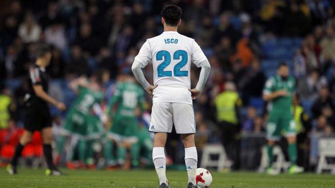 Isco, durante el partido del Leganés en la Copa