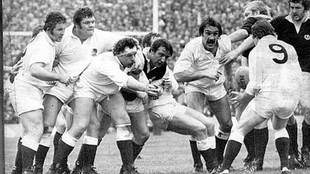 Imagen de la histórica victoria de Inglaterra en Murrayfield en 1980,...