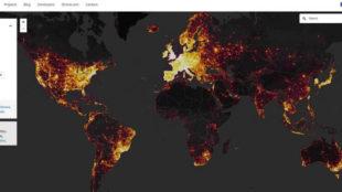 Así es el mapa de calor mundial de Strava.