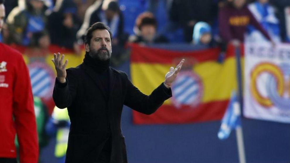 Quique Sánchez Flores, durante el encuentro contra el Leganés.
