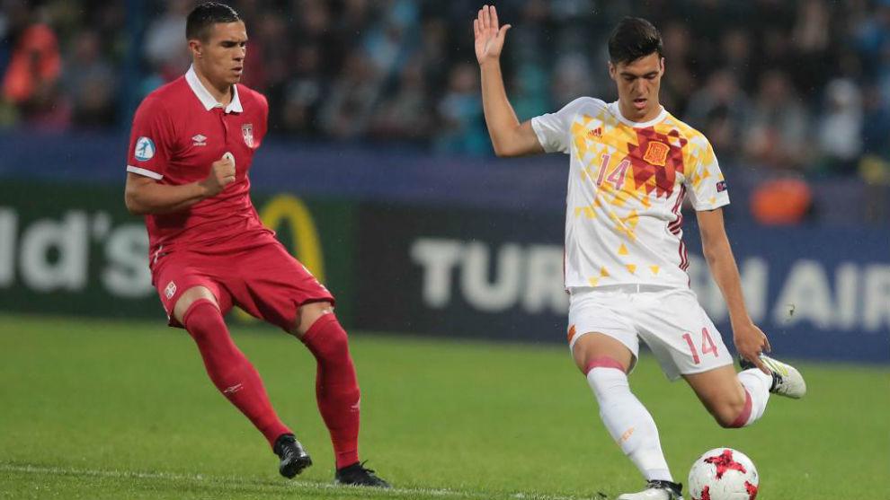 Mikel Merino con la sub-21