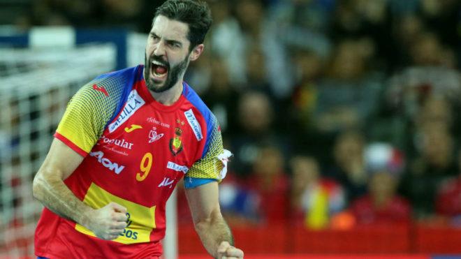 Raúl Entrerríos, durante la final del Europeo.DPA