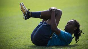 Semedo durante un entrenamiento con el Villarreal
