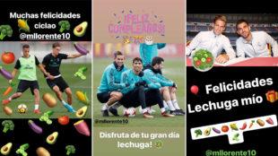 El instagram de Lucas, Achraf y Ceballos