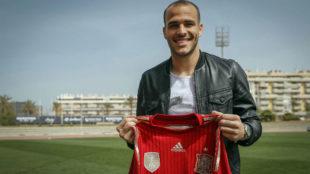 Sandro Ramírez (22), con la camiseta de España.
