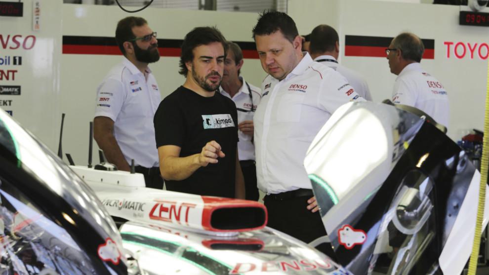 Fernando Alonso, con el equipo Toyota Gazoo Racing.