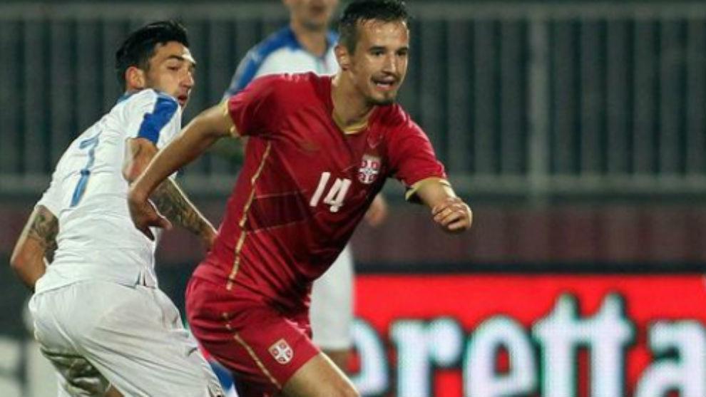 Vukasin Jovanovic durante un partido con su selección