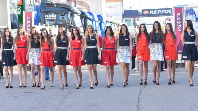 Chicas de parrilla en el Gran Premio de la Comunidad Valencia de...