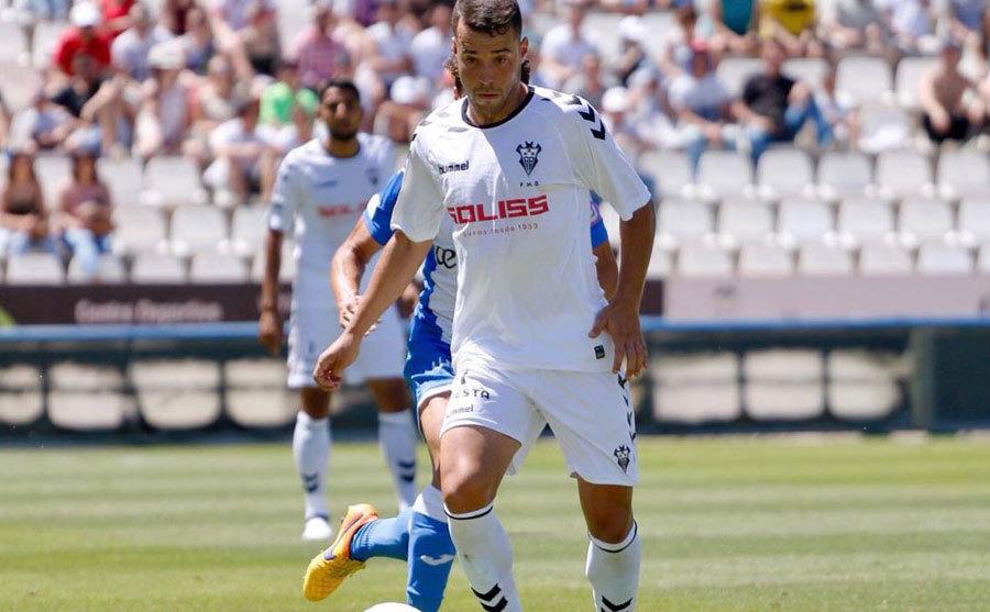 Marc Rovirola durante uno de sus partidos con el Albacete